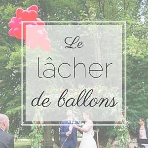 Un lâcher de ballon pour sa cérémonie