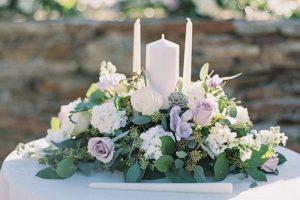 rituel bougie décoration florale