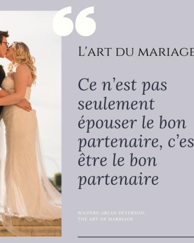 texte art du mariage