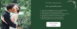 Mariage dans un jardin parisien