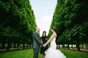 Mariage au jardin du luxembourg