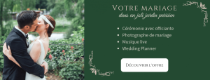 Mariage laïque dans un jardin à Paris
